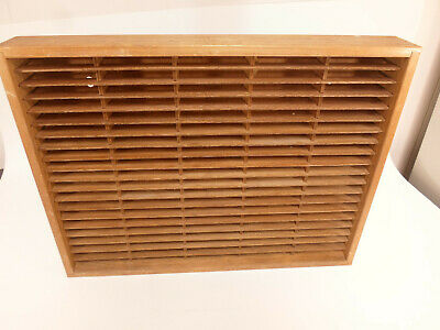 Napa Valley 100 Slot Cassette Wall Storage Holder Wood Box Display #3