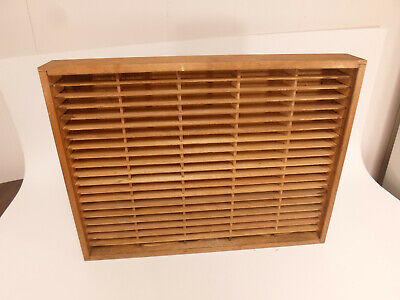 Napa Valley 100 Slot Cassette Wall Storage Holder Wood Box Display #4