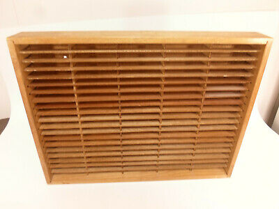 Napa Valley 100 Slot Cassette Wall Storage Holder Wood Box Display #5