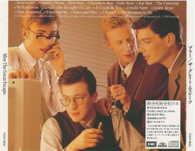 BLUR The Great Escape JAPAN CD TOCP-8633 1995 NEW