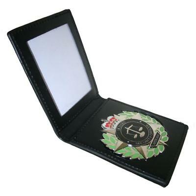 Licensed Security Officer Australia Star Badge With Leather ID Wallet