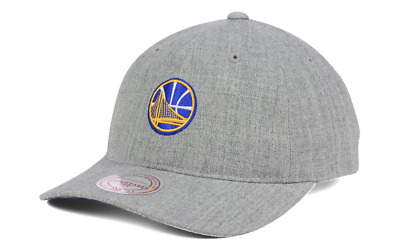 5279a2c3f2be7 GOLDEN STATE WARRIORS Mitchell   Ness NBA Heather Grey Dad Hat ...
