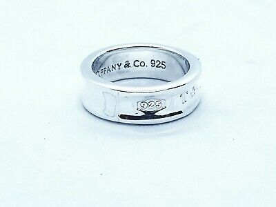 Tiffany & Co. Hall Mark Ring .925 Sterling Silver Size 6.6 Sign & Genuine Unisex
