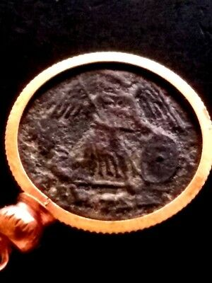 Constantine Great Authentic Victory Ancient Roman Coin Constantinople Pendant