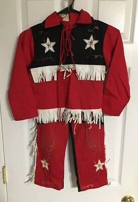 Vintage 50's Child's Youth Western Suit Outfit Size 7