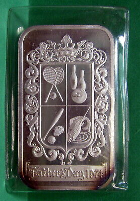 Father's Day 1974, Art Bar Fine Silver .999 1 troy ounce, Madison Mint