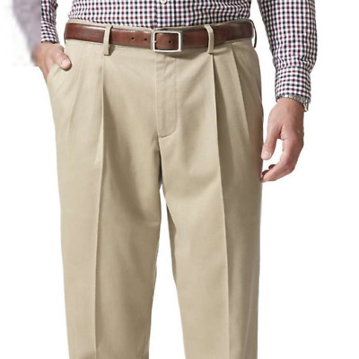 b2cfd513148636 Dockers Men's Relaxed Fit Comfort Khaki Cuffed Pants Pleated D4 MSRP $58 Tan
