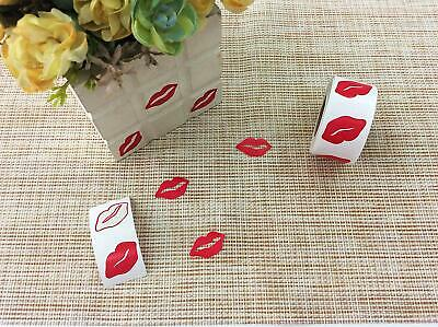 Red Kissing Lip Stickers can be used for tanning, crafts & more! 400 per roll!!