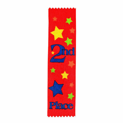 2nd PLACE AWARD RIBBONS,KIDS CARNIVALS, PARTICIPATION,CLUBS - 12pk