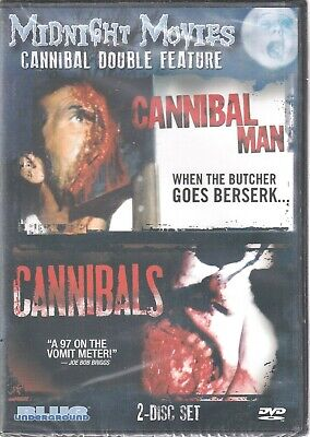 MIDNIGHT MOVIES: CANNIBAL DOUBLE FEATURE (DVD 2013 2-Disc Set) (W)