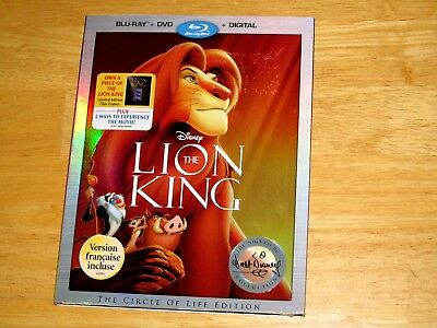 THE LION KING (Blu-ray/DVD, 2017, 2-Disc Set, Include Digital Copy *NEW*)