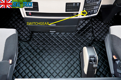 Man Tgx Truck Eco Leather Floor Mats Set - From 2018 - Black