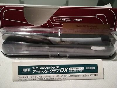 Rasoio razor shavette FEATHER ARTIST CLUB DX KAMISORI straight japanese