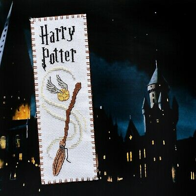 "Cross Stitch Kit Bookmark Harry Potter ""Quidditch"" Hand Embroidery Set DIY KIT"