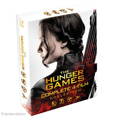 The Hunger Games ( 4 Disc : Blu-ray ) / Complete 4-Film Collection / Region A