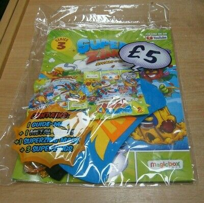 SuperZings Rivals of Kaboom Series 3 Starter Pack; Guide Map, 1 Metal Slider, Ma