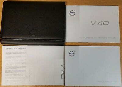 Genuine Volvo V40 Supplement To Owners Manual Wallet 2014-2019 Pack K-349