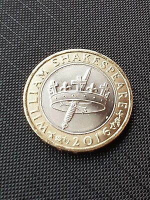 2016 Shakespeare Histories Crown & Dagger/Sword £2 Two Pound Coin 180410dh