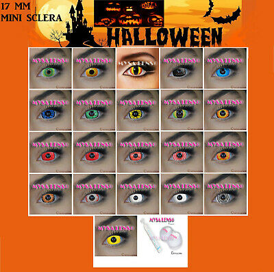 Crazy Coloured Contact Lenses Mini Sclera 17MM Kontaktlinsen Halloween MYSALENS