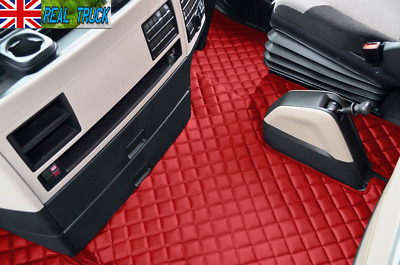 Man Tgx Truck Eco Leather Floor Mats Set - From 2018 - Red