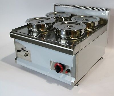 EX DISPLAY GAS Commercial Wet BAIN MARIE with TAP  4x7L Round Pots