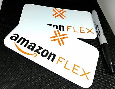 "AMAZON FLEX Delivery SMALL Magnetic Car Truck Van VEHICLE SIGN 3""x 6"" removable"