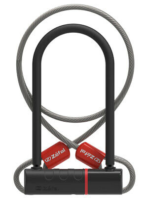 Bike Security Lock Zefal K-Traz U11 D-Lock 230mm With Cable Black