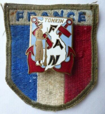 Flottille Amphibie Nord TONKIN + Patch FRANCE- COMMANDO FUSILIER Indochine