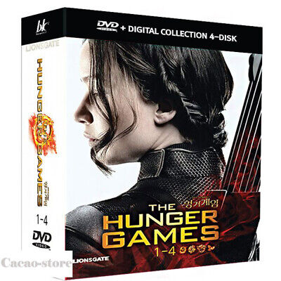 The Hunger Games 1,2,3,4 (4 Disc : DVD) / Complete 4-Film Collection / Region 3