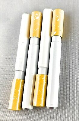 4 pack Self Cleaning One Hitter Metal Bat Tobacco Smoking Cigarette Pipe