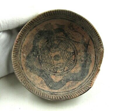 Authentic Ancient Indus Valley Terracotta Plate / Bowl W/ Snake - L201