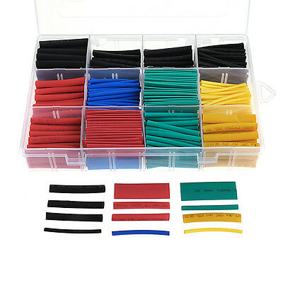 530pcs 2:1Heat Shrink Tube Tubing Sleeving Wrap Wire Assorted Kit 5 Color.8 Size
