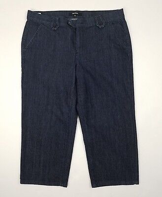 dcf518abbcc Daisy Fuentes Womens Jeans Size 14 Cropped Dark Wash Denim Flap Pockets