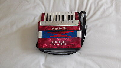 SCARLATTI : CHILD'S ACCORDION ( with Beginners Instruction Book  ). NEW. UNBOXED