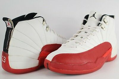 wholesale dealer d4023 8570e 1997 Nike Air Jordan Retro XII 12 Cherry White Varsity Red Black Size 9.5