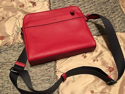 82a48dff2ad9 NWT COACH MEN S F24876 Charles Camera Bag in Pebble Leather True Red ...