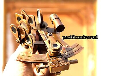 """Nautical Ship Instrument Astrolabe Marine Brass Sextant By Pacific Universal 4"""""""