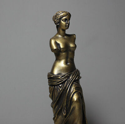 Aphrodite Greek Roman Goddess Bronze Finish Handmade Statue Alabaster Greece Art