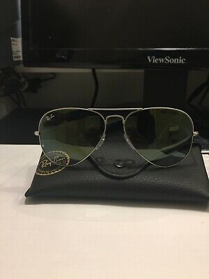 RAY-BAN AVIATOR Silver Sunglasses Green GRADIENT FLASH Lens RB3025 019 9J 58 - c5b1a2a8b356
