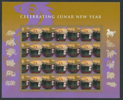 Scott 4846 Chinese New Year:year Of The Horse Sheet Of 12 Mnh Free Shipping