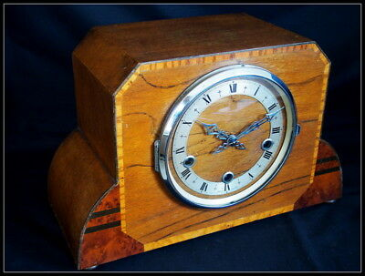 Art Deco style Enfield Mantel Clock.Westminster Chime.