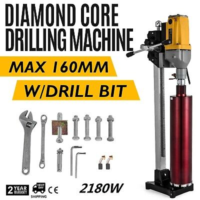 160mm Diamond Core Drill Concrete Drill Machine And Stand & Drill Bits 1980W