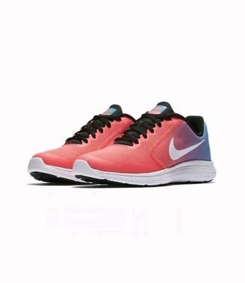 762707ef496 Nike Revolution 3 (Gs) Girls Youth Running Shoes Blue Pink 819416-404