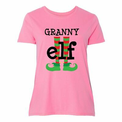 740e7f8d581 Inktastic Granny Elf Christmas Women s Plus Size T-Shirt Holiday Cute  Grandma My