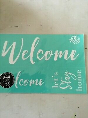 NIP Chalk Couture Double Welcome transfer, words, brand new