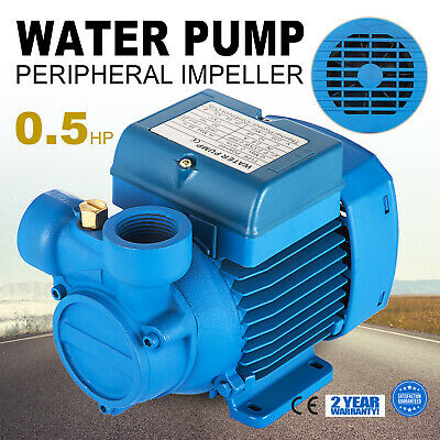 Electric Water Pump with peripheral impeller 2850 RPM Centrifugal pump ip44