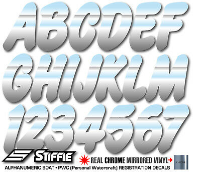 Stiffie Whip-One Wine 3 Alpha-Numeric Registration Identification Numbers Stickers Decals for Boats /& Personal Watercraft