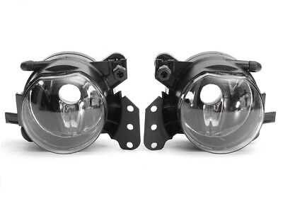 Pair clear foglamps foglights fogs fog lights lamps BMW E90 E91 M sport tech UK