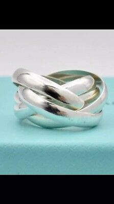 2393034ae TIFFANY & CO PALOMA PICASSO 925 Sterling Silver Melody MULTIBAND 5 Band Ring