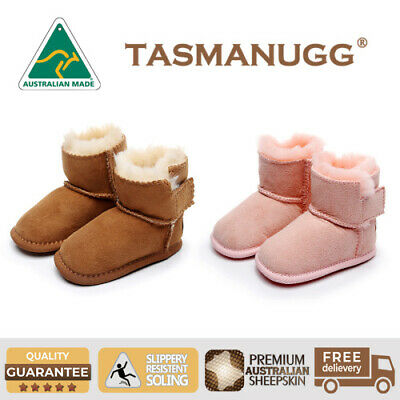 Tasman UGG-Baby Infant Erin Boots, Kids Bootie Cradle, Australian Made, 2 Colour